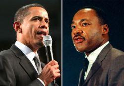 Dr. Martin Luther King Jr. and President Barack Obama