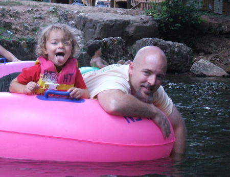 Aryn and I tubing