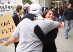 Christian hugging a Muslim