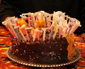 Birthday Cake Lots Of Candles