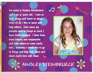 Ainsley Steinbrueck story for Kenya